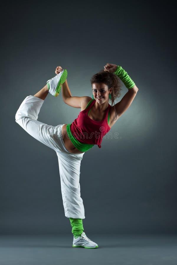 Het moderne stijldanser stellen royalty-vrije stock foto