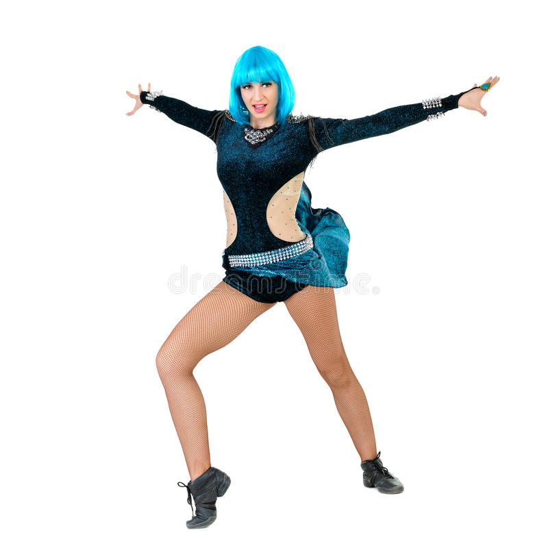 Het moderne stijldanser stellen stock afbeelding