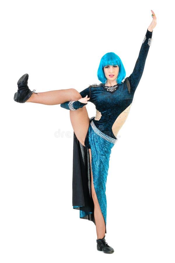 Het moderne stijldanser stellen royalty-vrije stock afbeeldingen