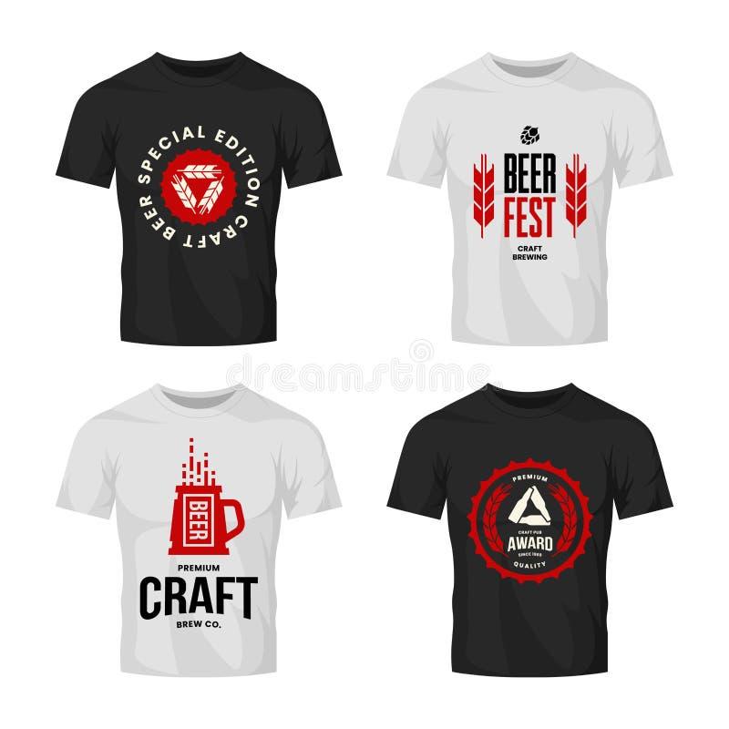 Het moderne teken van het de drank vectorembleem van het ambachtbier voor bar, bar, opslag, brouwerij of brouwerij op t-shirtspot vector illustratie