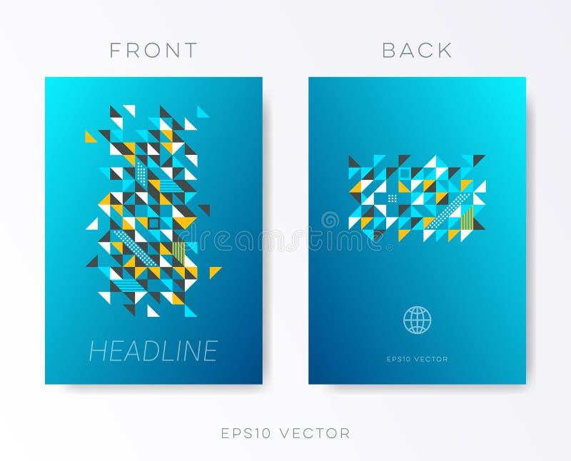 Het moderne vectormalplaatje van het brochureontwerp vector illustratie