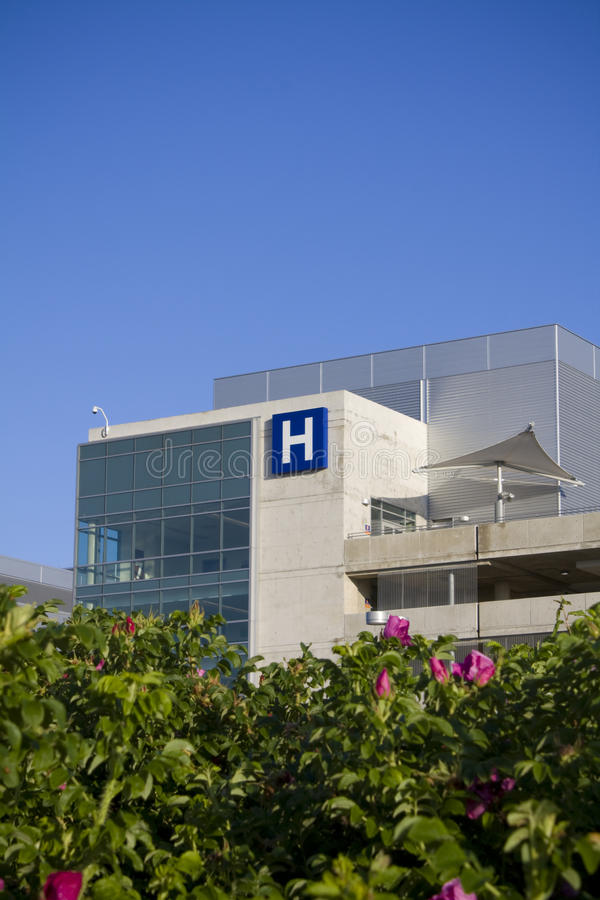 Het moderne ziekenhuis royalty-vrije stock afbeeldingen