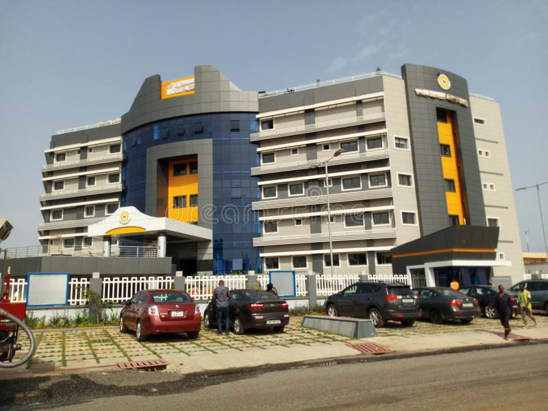 Het moderne ziekenhuis van Ghana stock afbeelding