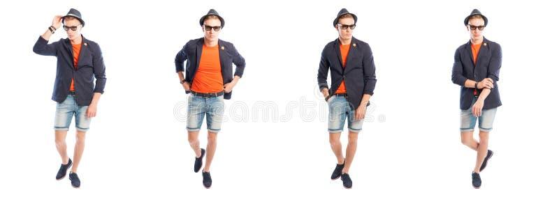 Het modieuze jonge mannetje kleedde zich in de zomerkleren royalty-vrije stock foto