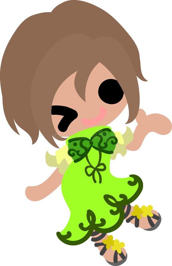 Het modieuze meisje stock illustratie