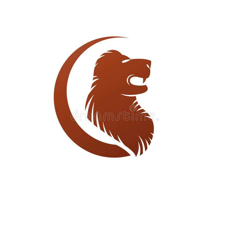 Het moedige dierlijke element van Lionemblem Heraldisch vectorontwerpelement Retro stijletiket, wapenkundeembleem royalty-vrije illustratie