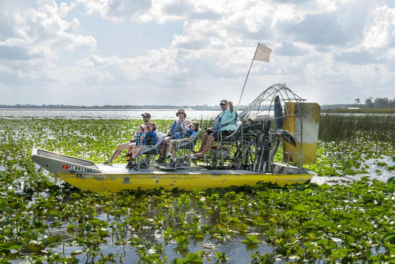 Het Moerasreis van de luchtboot, Florida, Reis, Toeristen royalty-vrije stock fotografie