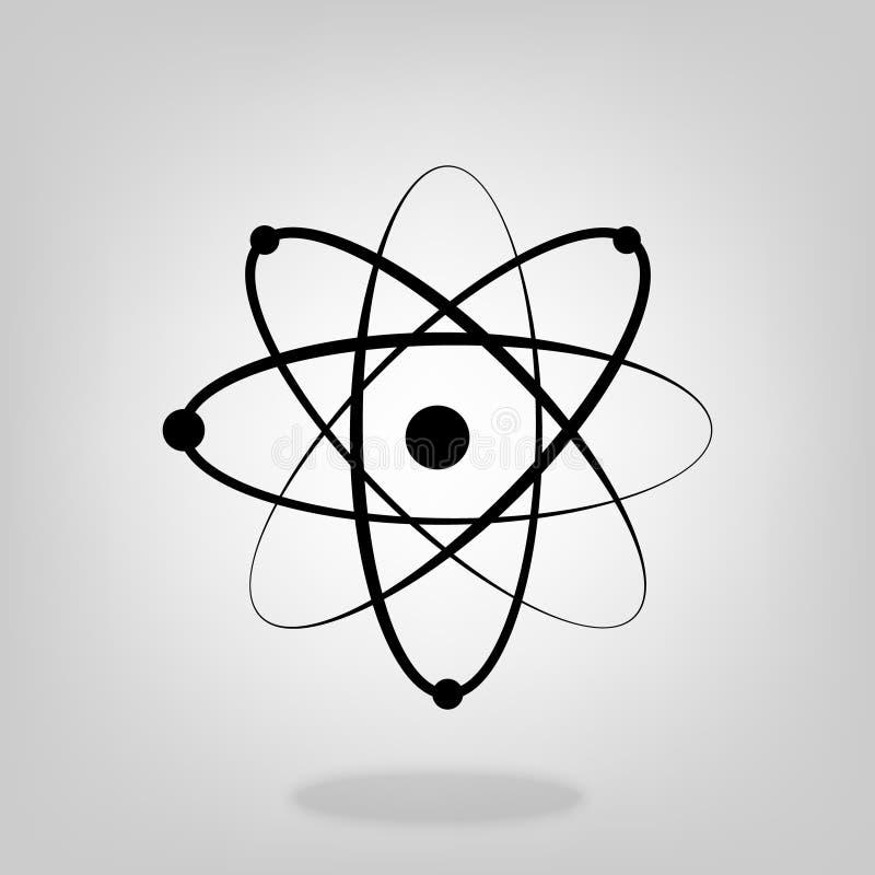 Het moleculaire van het het laboratoriumpictogram van het atoomneutron model van de de fysicawetenschap Vector voor uw websiteont stock illustratie