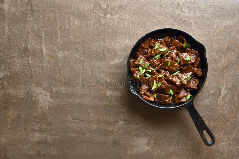 Het Mongoolse rundvlees stock afbeeldingen