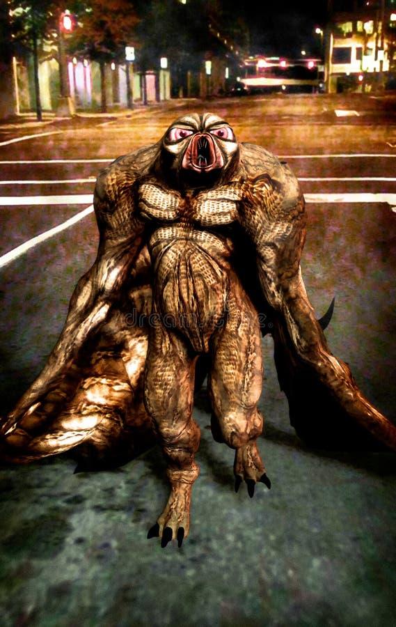 Het monster van Mothman vector illustratie