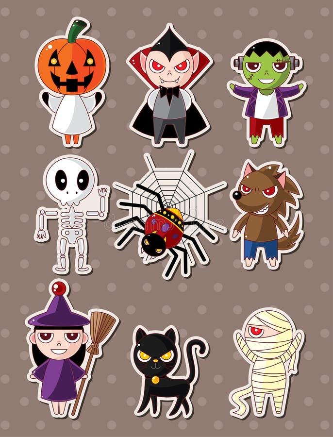 Het monsterstickers van Halloween royalty-vrije illustratie