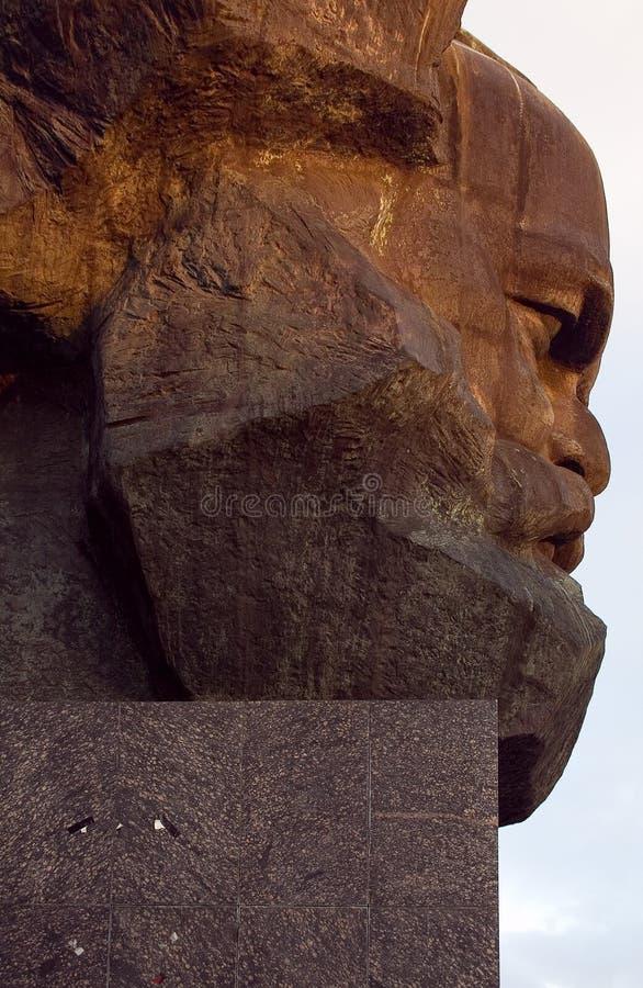 Het monument Karl Marx van Chemnitz stock foto's