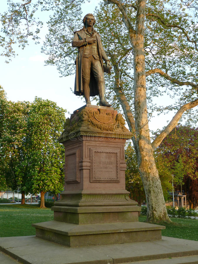 Het monument nr 2 van Schiller royalty-vrije stock afbeeldingen