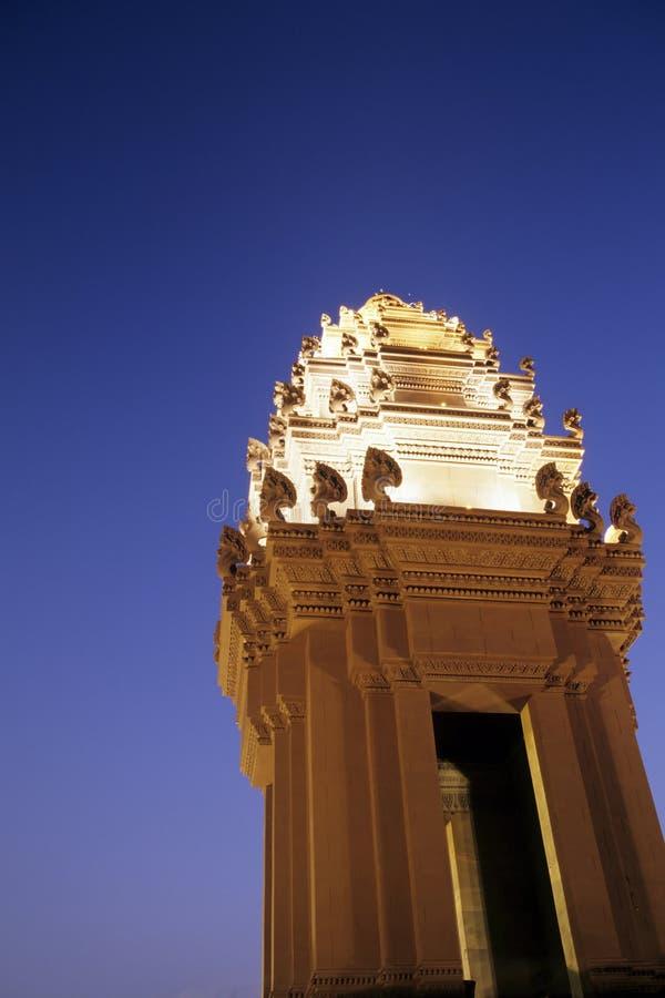 Het Monument Phnom Penh, Kambodja Van De Onafhankelijkheid Stock Afbeeldingen