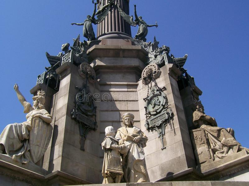 Het monument van Barcelona royalty-vrije stock afbeeldingen