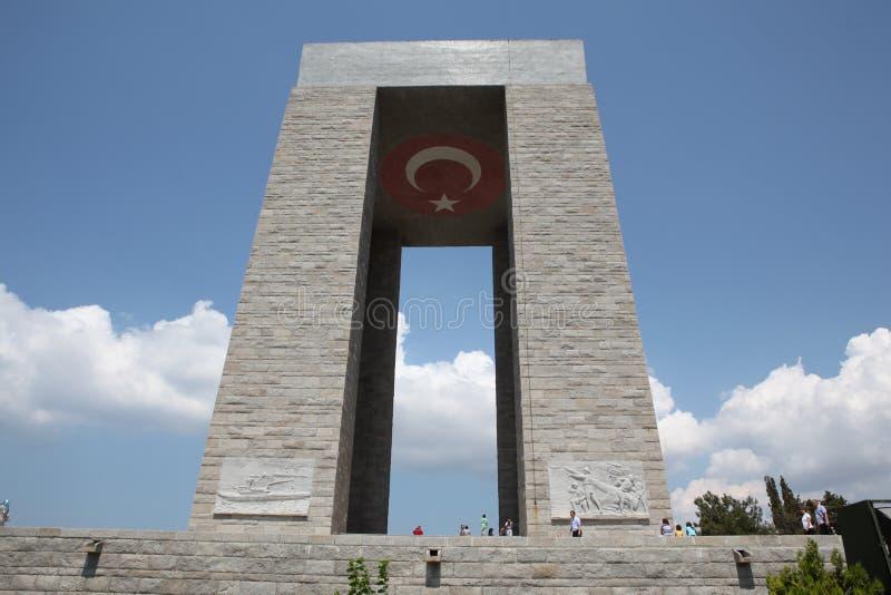 Het Monument van Canakkale stock foto