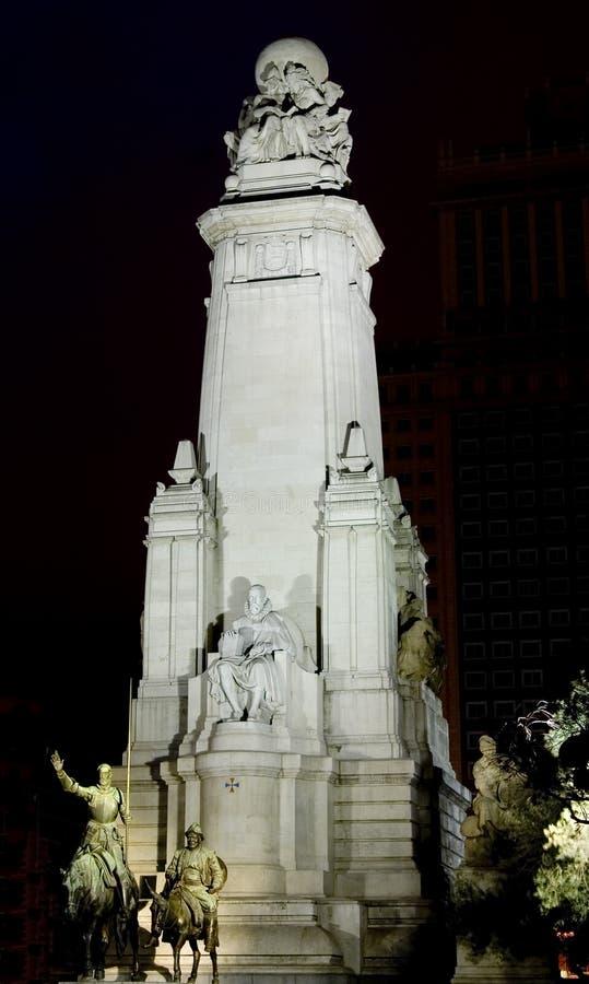 Het Monument van Cervantes stock afbeeldingen