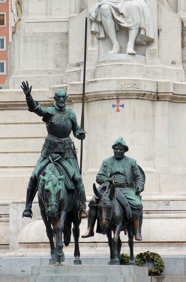 Het monument van Cervantes royalty-vrije stock fotografie