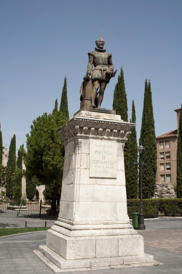 Het monument van Cervantes stock foto's