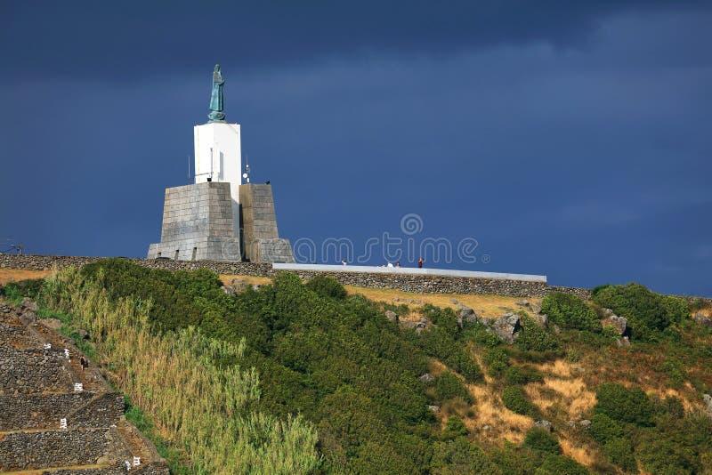 Het Monument van de Gazebotoorts, het beroemde oriëntatiepunt in Vitoria-Strandtoevlucht royalty-vrije stock foto's