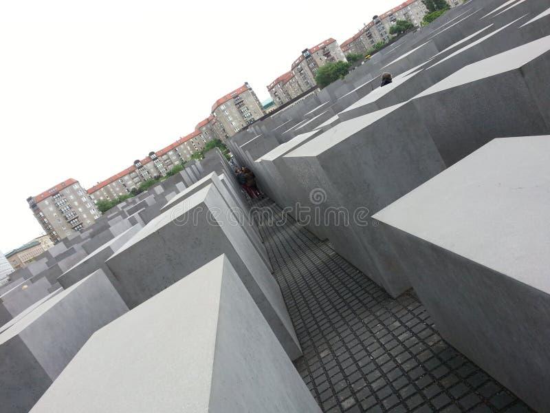 Het monument van de holocaust in Berlijn royalty-vrije stock afbeelding