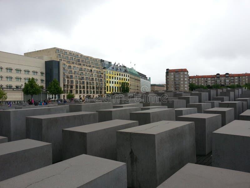 Het monument van de holocaust in Berlijn stock foto