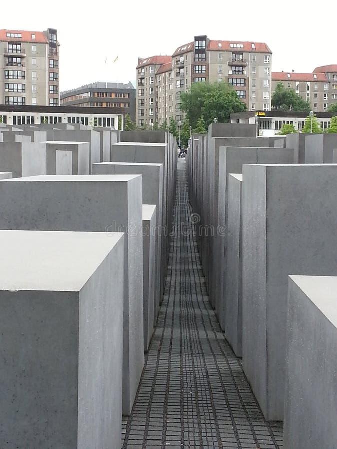 Het monument van de holocaust in Berlijn stock afbeeldingen