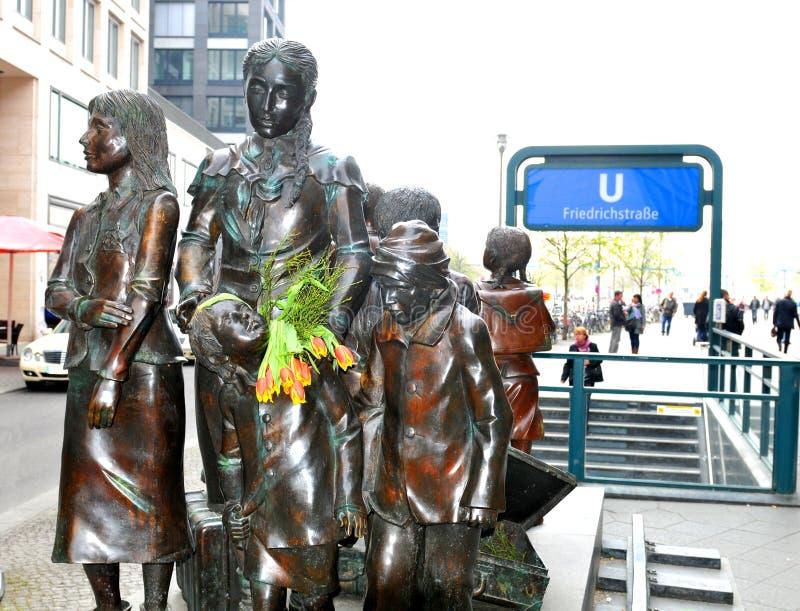Het monument van de holocaust in Berlijn, Duitsland stock afbeelding