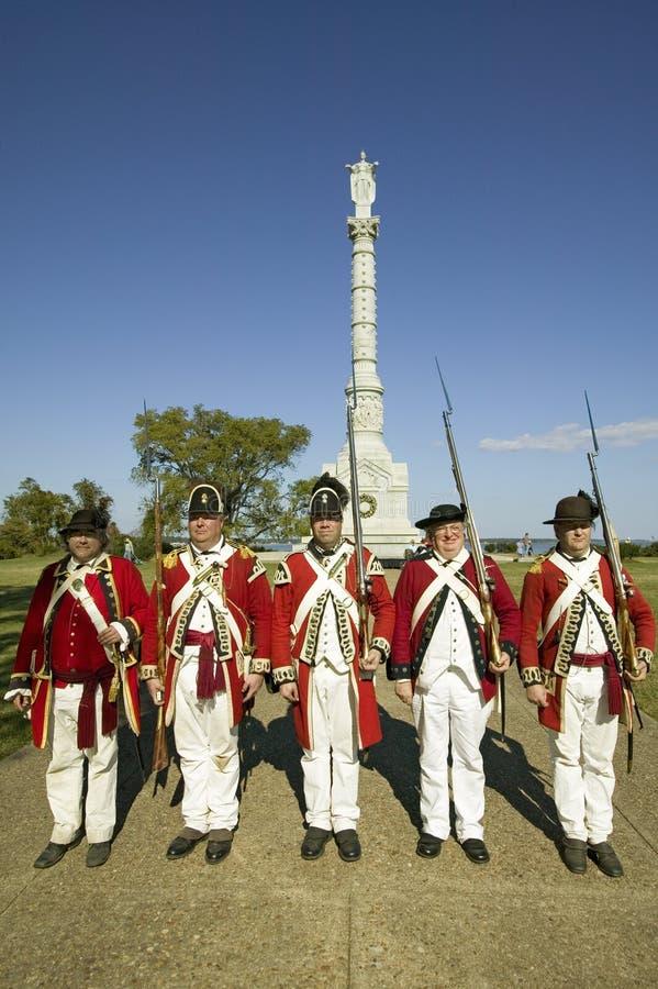 Het Monument van de Overwinning van Yorktown in Koloniaal Nationaal Historisch Park, Historische Driehoek, Virginia Het standbeel stock foto