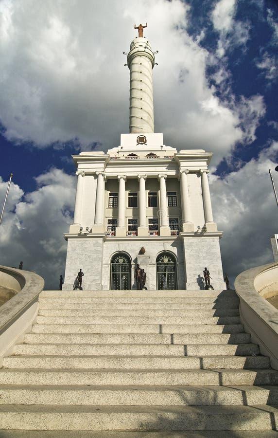 Het Monument van helden in Santiago, Dominicaanse Republiek stock afbeelding