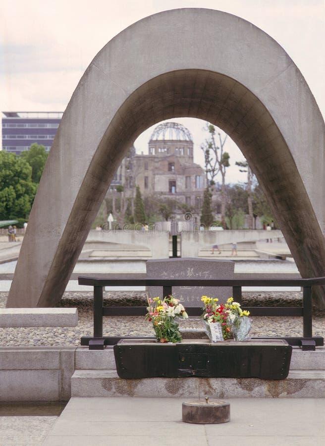 Het monument van Hiroshima stock fotografie