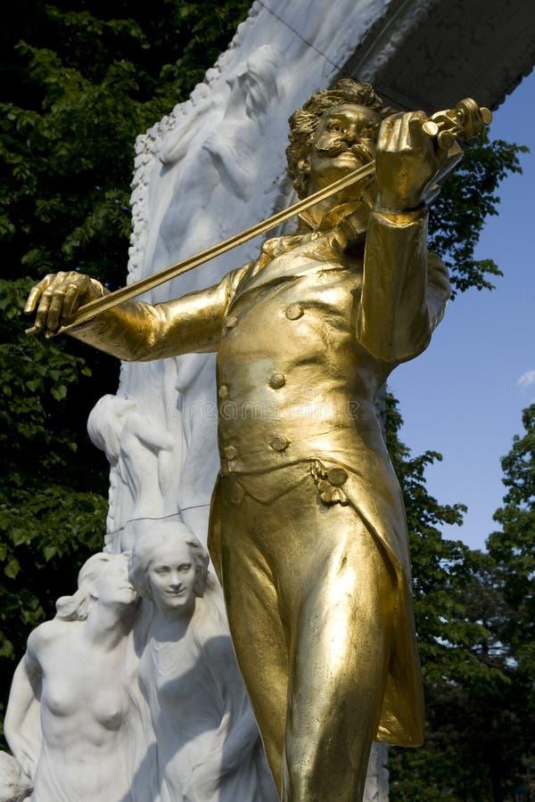 Het monument van Johann Strauss in Wenen royalty-vrije stock fotografie