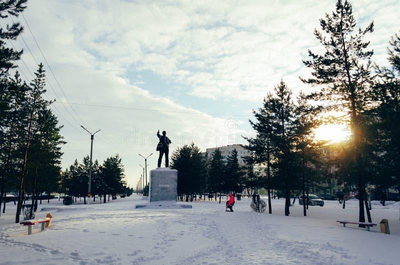 Het monument van Lenin stock fotografie