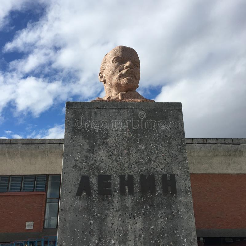Het monument van Lenin royalty-vrije stock afbeelding