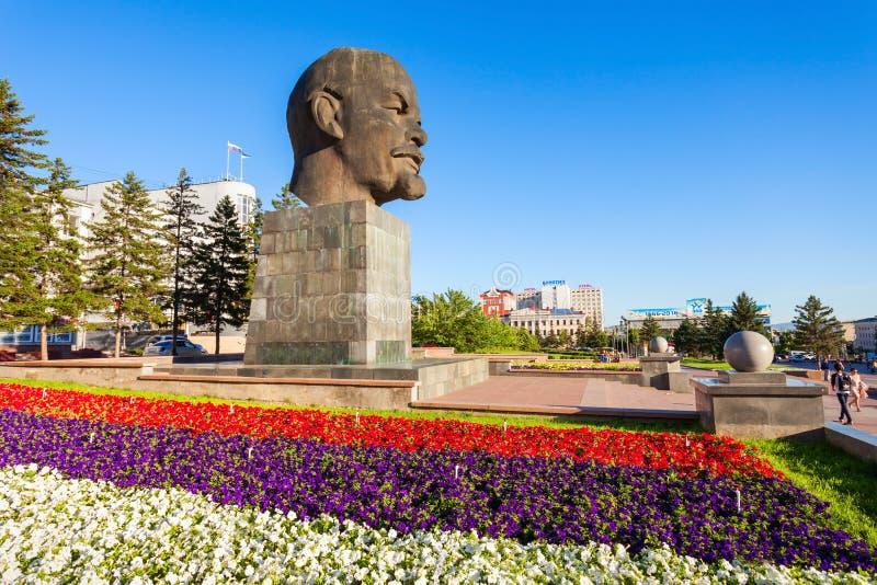 Het monument van Lenin in Ulan-Ude royalty-vrije stock fotografie