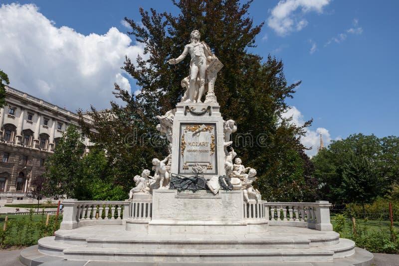 Het monument van Mozart in Wenen royalty-vrije stock fotografie