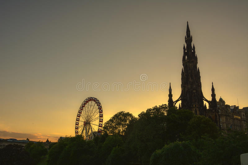 Het monument van Scott, Edinburgh stock foto