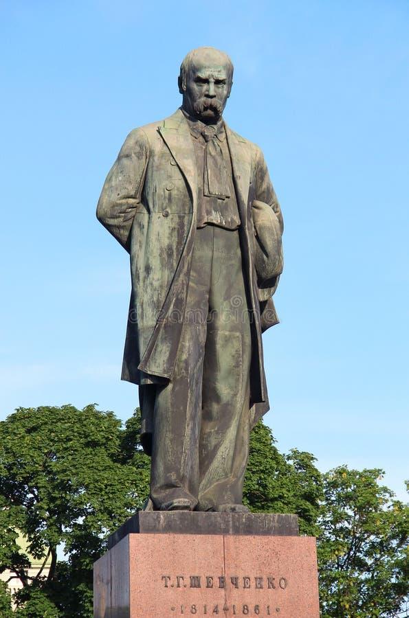 Het monument van Shevchenko van Taras, Kyiv, de Oekraïne stock foto's