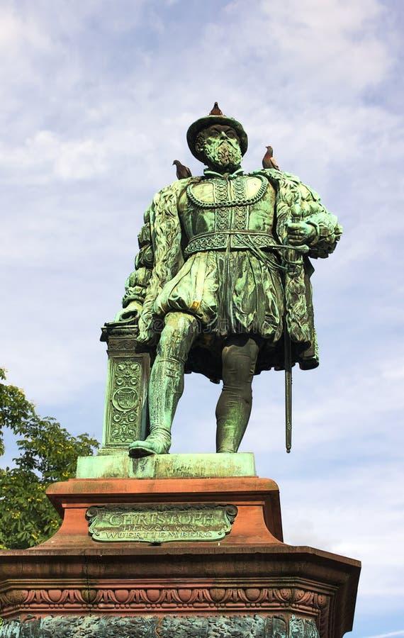 Het monument van Stuttgart - Duke Christopher-- I - royalty-vrije stock afbeeldingen