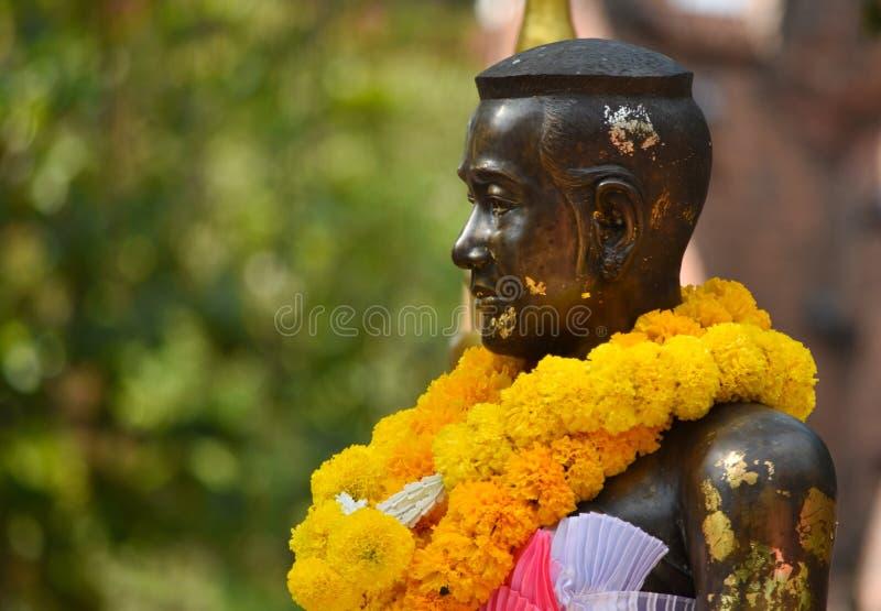 Het monument van Thaosuranari in Sala Loi Temple stock foto's