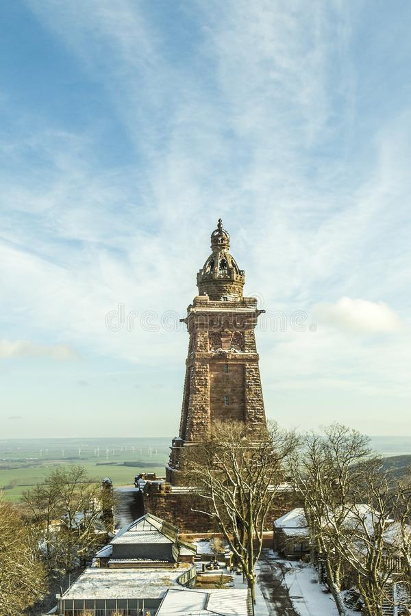 Het Monument van Wilhelm I op Kyffhaeuser-Berg Thuringia, Duitsland royalty-vrije stock afbeelding