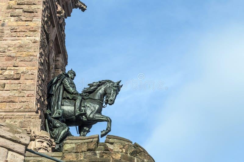 Het Monument van Wilhelm I op Kyffhaeuser-Berg Thuringia, Duitsland royalty-vrije stock fotografie