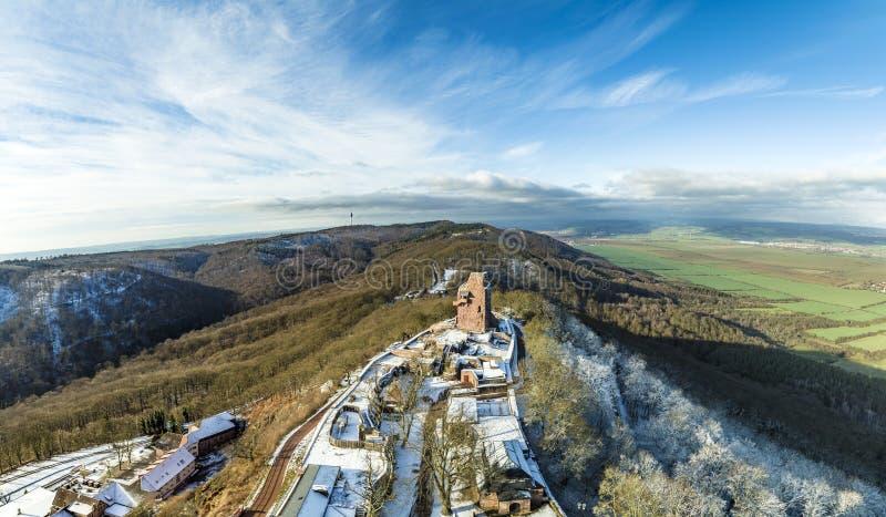 Het Monument van Wilhelm I op Kyffhaeuser-Berg Thuringia, Duitsland stock fotografie