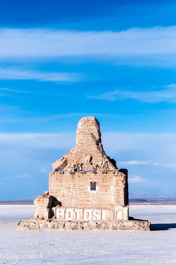 Het monument van zonneschijnpotosi bij de stadsingang royalty-vrije stock fotografie