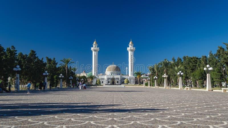 Het monumentale graf van het Bourguibamausoleum in Monastir, Tunesië royalty-vrije stock afbeeldingen