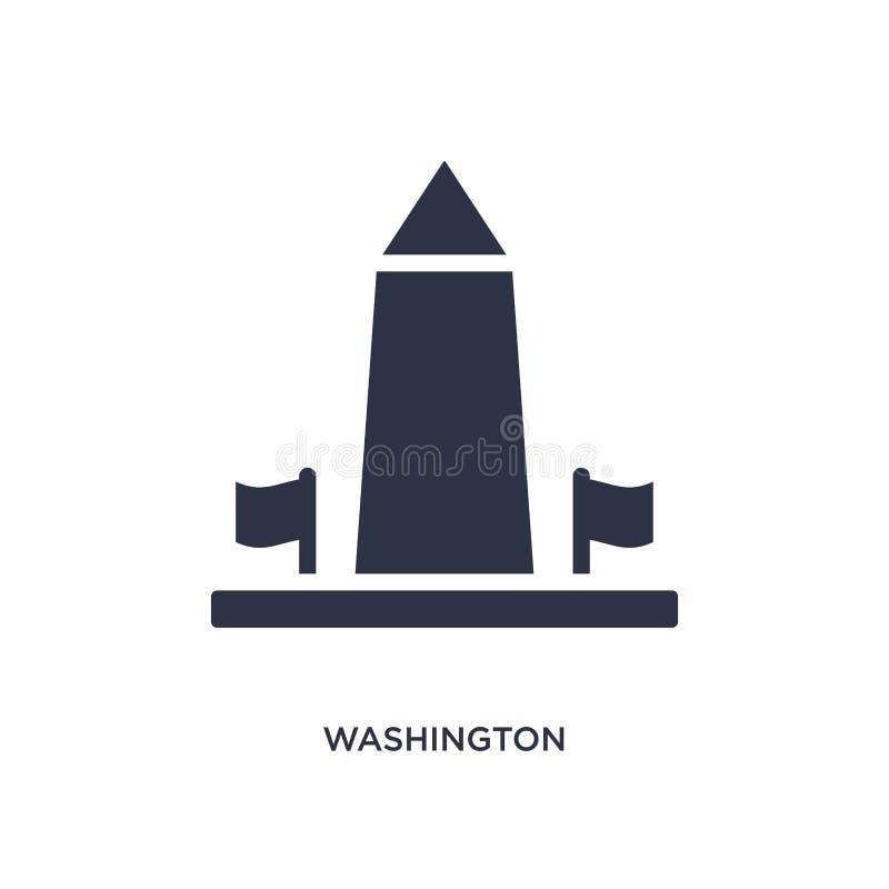 het monumentenpictogram van Washington op witte achtergrond Eenvoudige elementenillustratie van Gebouwenconcept stock illustratie