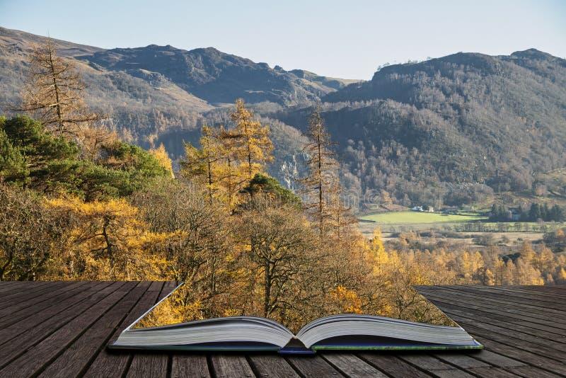 Het mooie Autumn Fall-landschapsbeeld van de mening van Catbells dichtbij Derwentwater in het Meerdistrict met levendige Daling k royalty-vrije stock fotografie