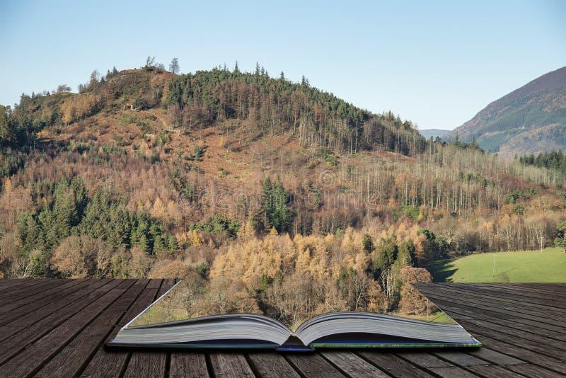 Het mooie Autumn Fall-landschapsbeeld van de mening van Catbells dichtbij Derwentwater in het Meerdistrict met levendige Daling k stock foto