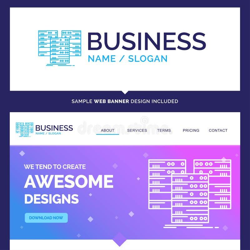 Het mooie Centrum van de Bedrijfsconceptenmerknaam, centrum, gegevens, gegevens stock illustratie