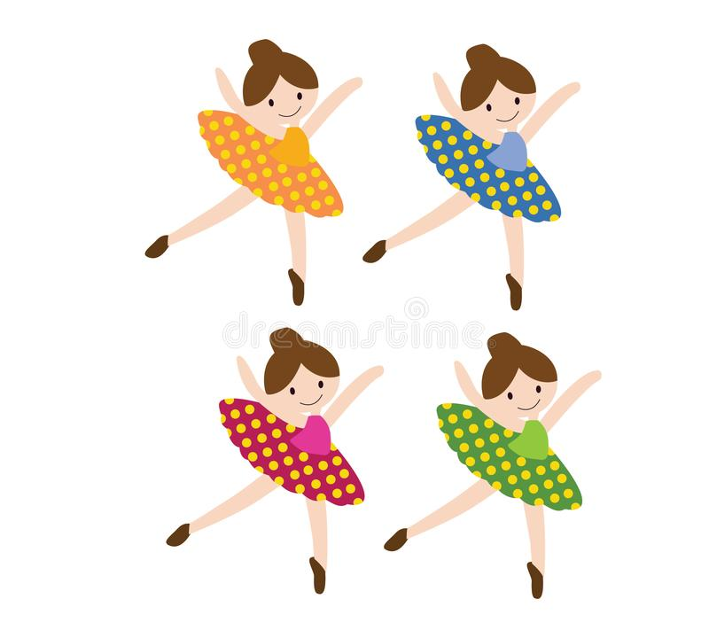 Het mooie dansen van ballerina vector illustratie